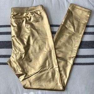 Pink Republic Gold Leggings